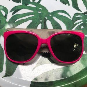 Pink dark lens sunglasses